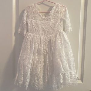 White toddler dress (Size 3)